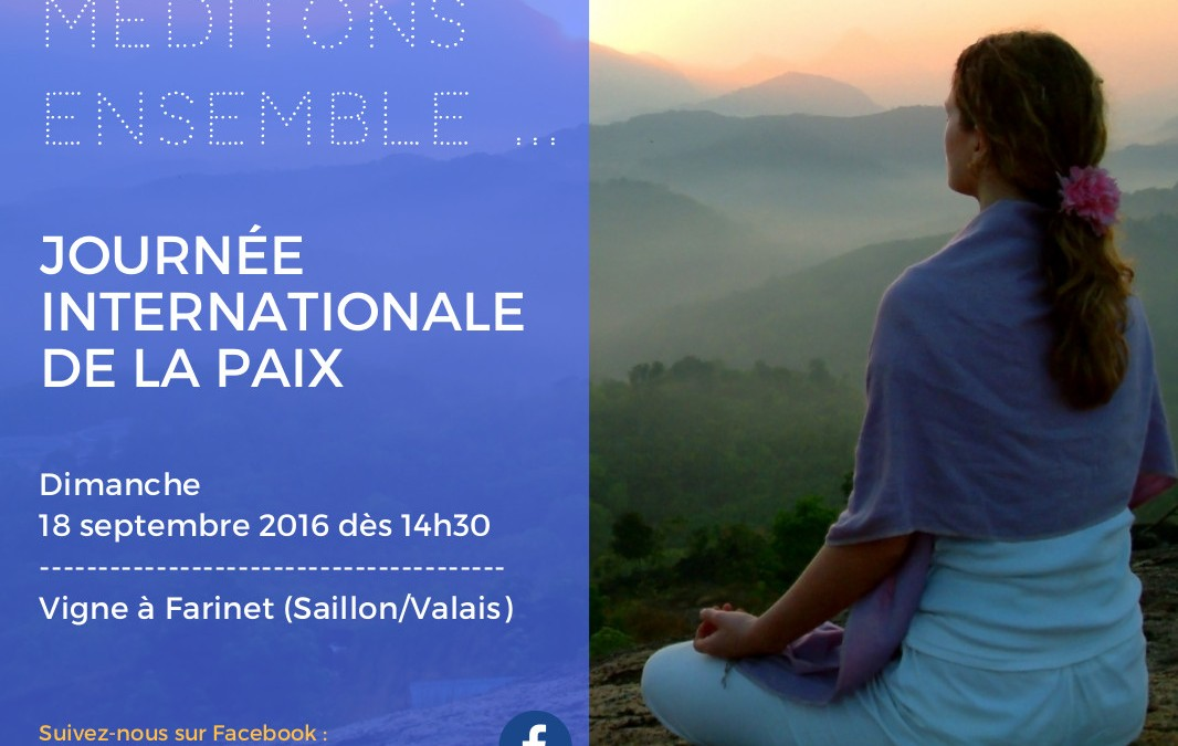Journée Internationale de la Paix – Saillon (vigne à Farinet)
