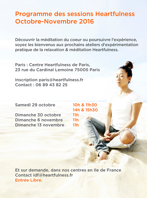[Paris] Atelier heartfulness