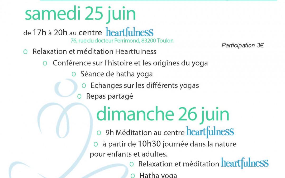 Journées du Yoga à TOULON et OLLIOULES
